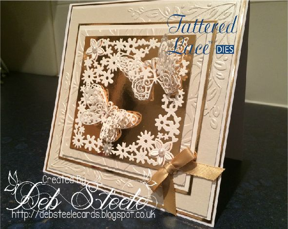 One of my Tattered Lace DT cards for the Starlights collection