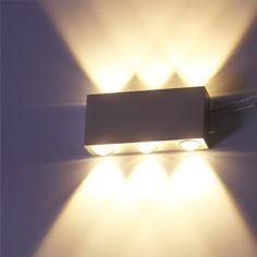 Beautiful  uac VINGO W Wandlampe LED Flur Wandleuchten Aluminium Leuchte up down Beleuchtung Innenleuchte