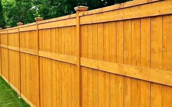 Cost Of A Fence Per Foot Price To Install Wood Fence Cost To