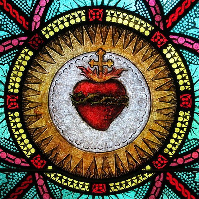 All Saints Catholic Church (St. Peters, Missouri) - stained glass, sacristy, Sacred Heart detail - Sacred Heart - Wikipedia, the free encyclopedia #heartdetail