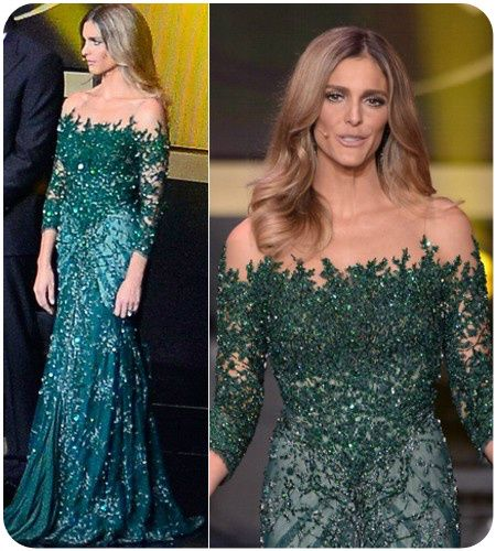 vestido social elegante verde com renda bordado a mão, com pequenos