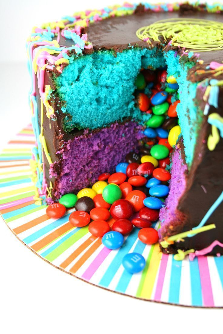 Photo of Jackson Pollock Piñata Cake – Pinatakuchen mit M & Ms. So bunt und festlich w ….