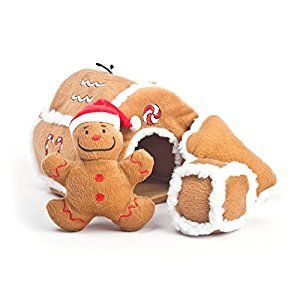 Outward Hound Kyjen 31021 Gingerbread House Squeaking Puzzle Plush