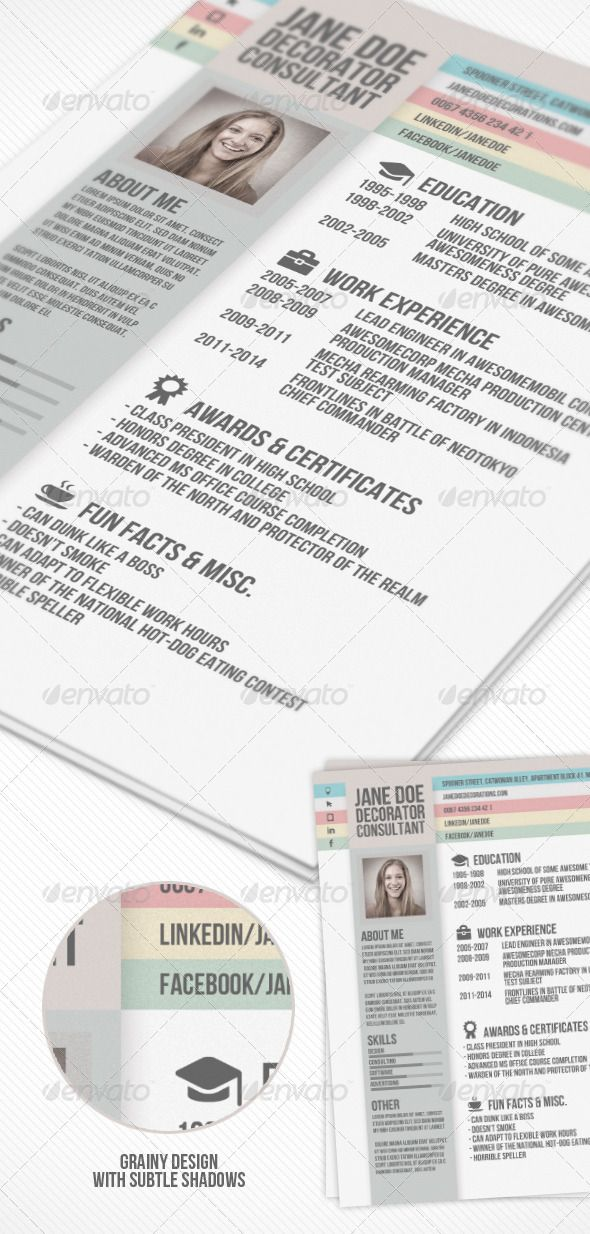 Creative Resume #GraphicRiver A creative resume template with - cover letter elements
