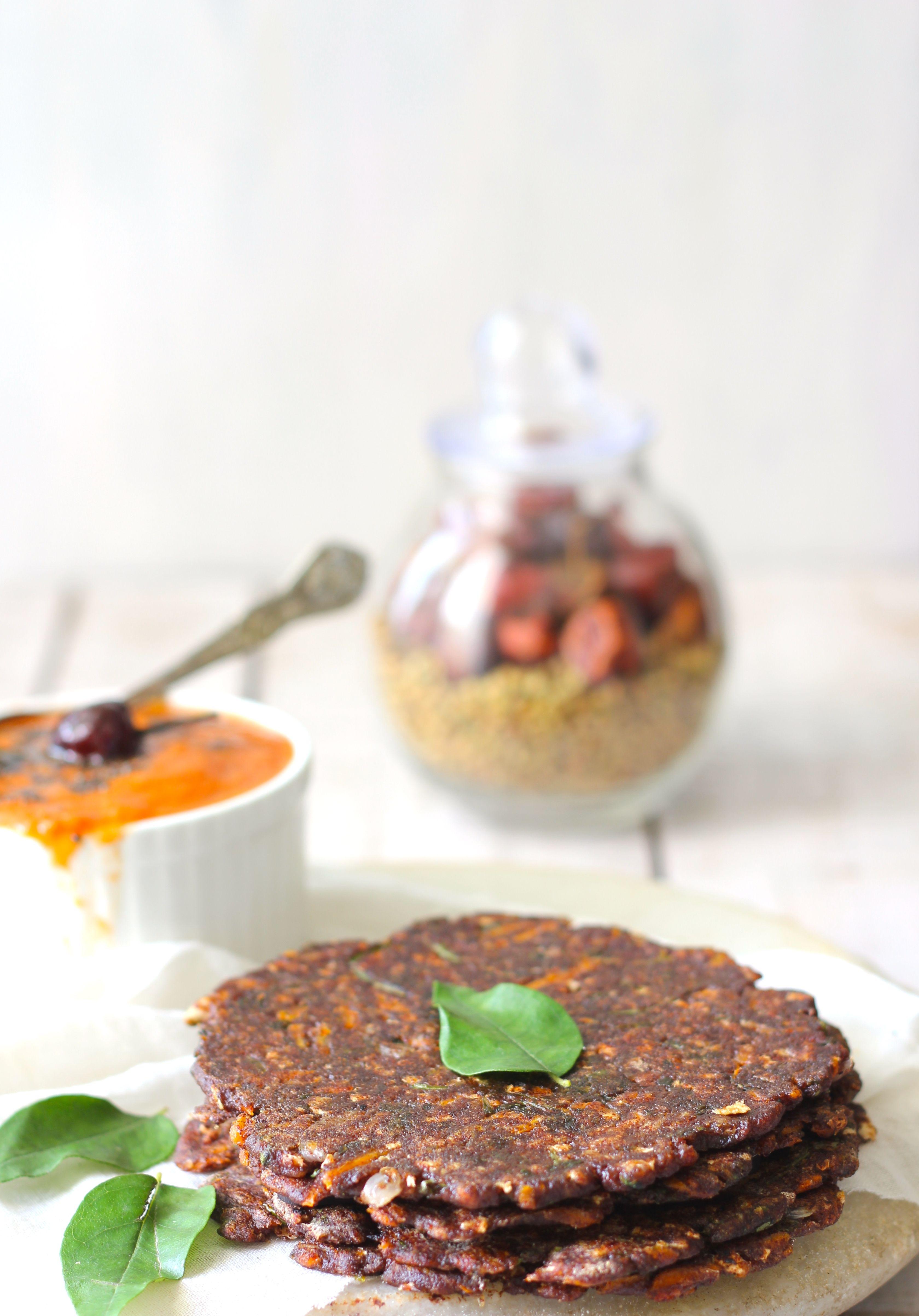 Ragi Rotti (Finger Millet Flat Bread) | Recipe | Tomato chutney ...
