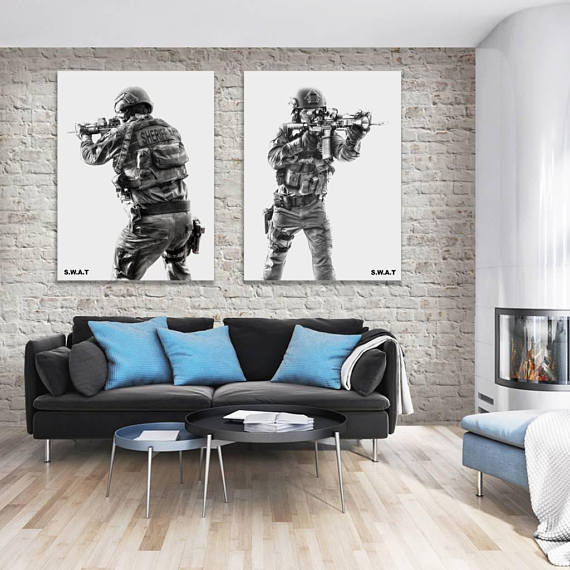 SWAT Poster, Police Officer Photo, Swat Team, Law