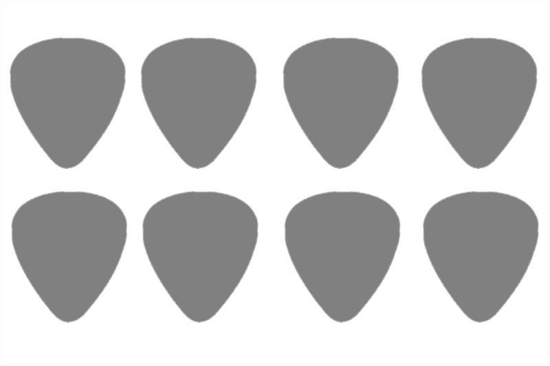 Guitar Pick Template Actual Size I Use This All The Time To Make Picks Cut Out Of Credit A Card
