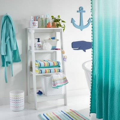 Striped Bath Towels Pillowfort Blue Green Orange White