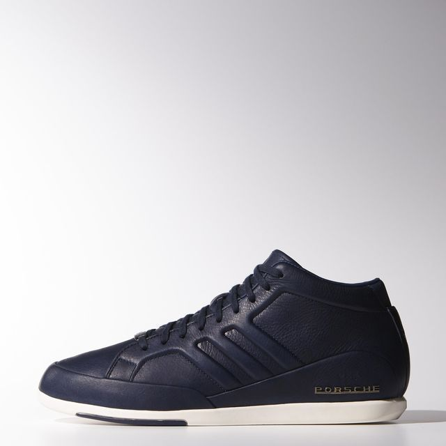 Adidas Porsche Design 917 356 Men's Dark Blue Leather Shoes SIZE US 8 9. 5  11