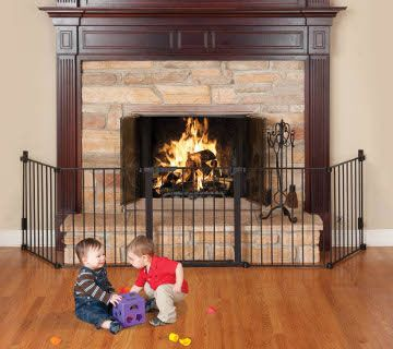 Fireplace Safety Gate With Fireplace Protect Your Children And
