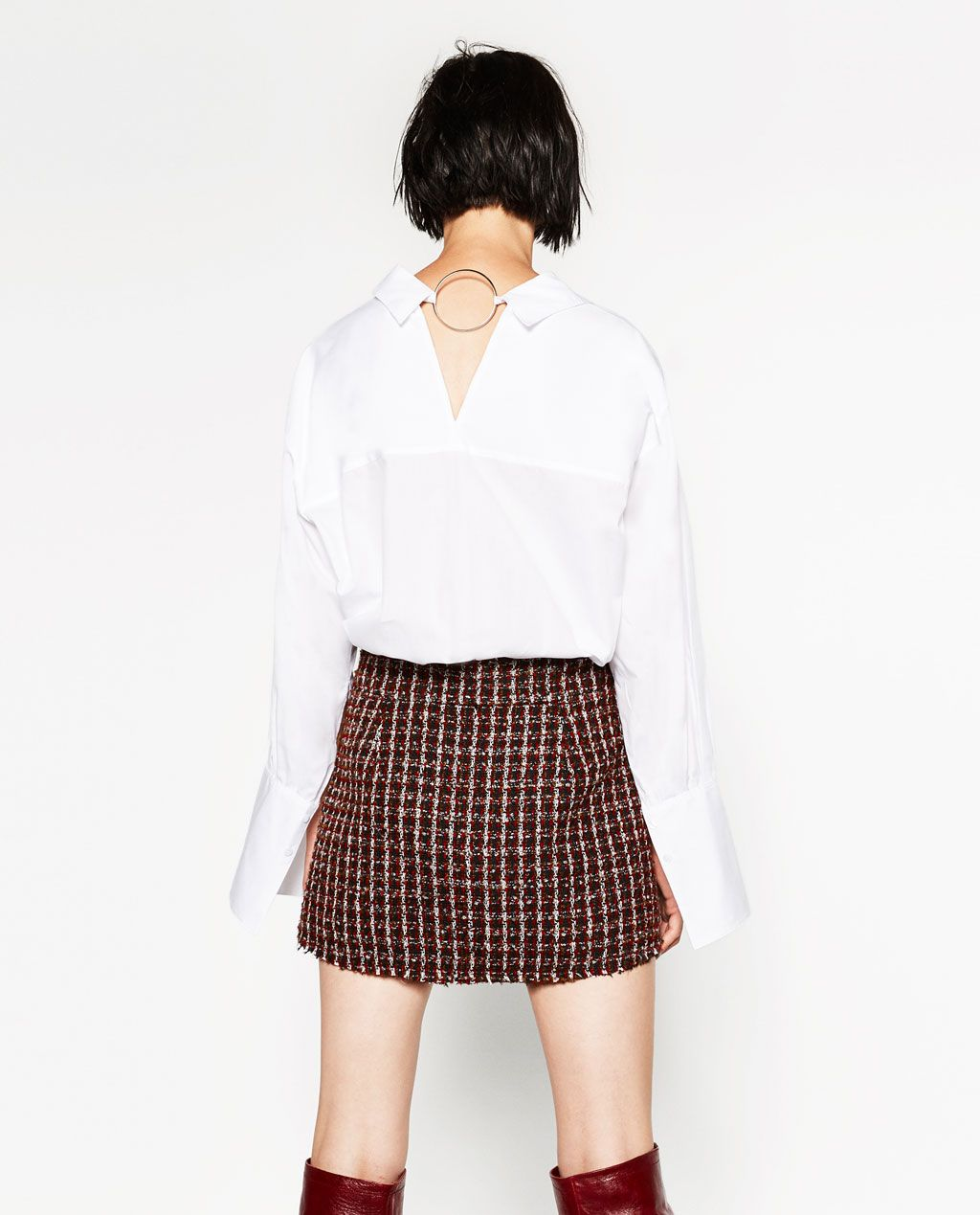 240dc39820d2 ZARA - WOMAN - BUTTONED MINI SKIRT White Mini Skirts, Button Skirt, Zara  United