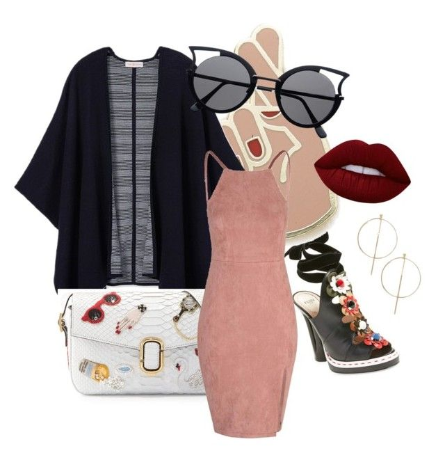 """""""Sweet"""" by calypsotabouret on Polyvore featuring mode, Fendi, Georgia Perry, Tory Burch, Marc Jacobs, Glamorous, Lime Crime et ASOS"""
