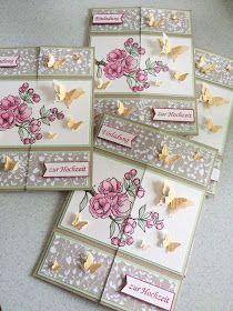 Stampin Up, Endloskarte, Neverending Card, Hochzeit, Einladung,  Schmetterlinge   Cards   Pinterest   Cards, Fun Fold Cards And Card  Tutorials