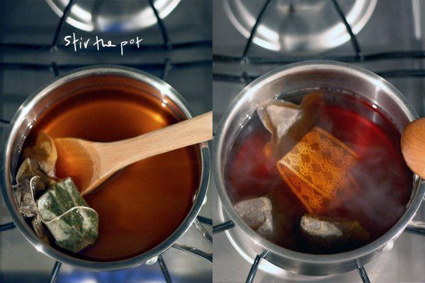 Tea dying lace #DIY