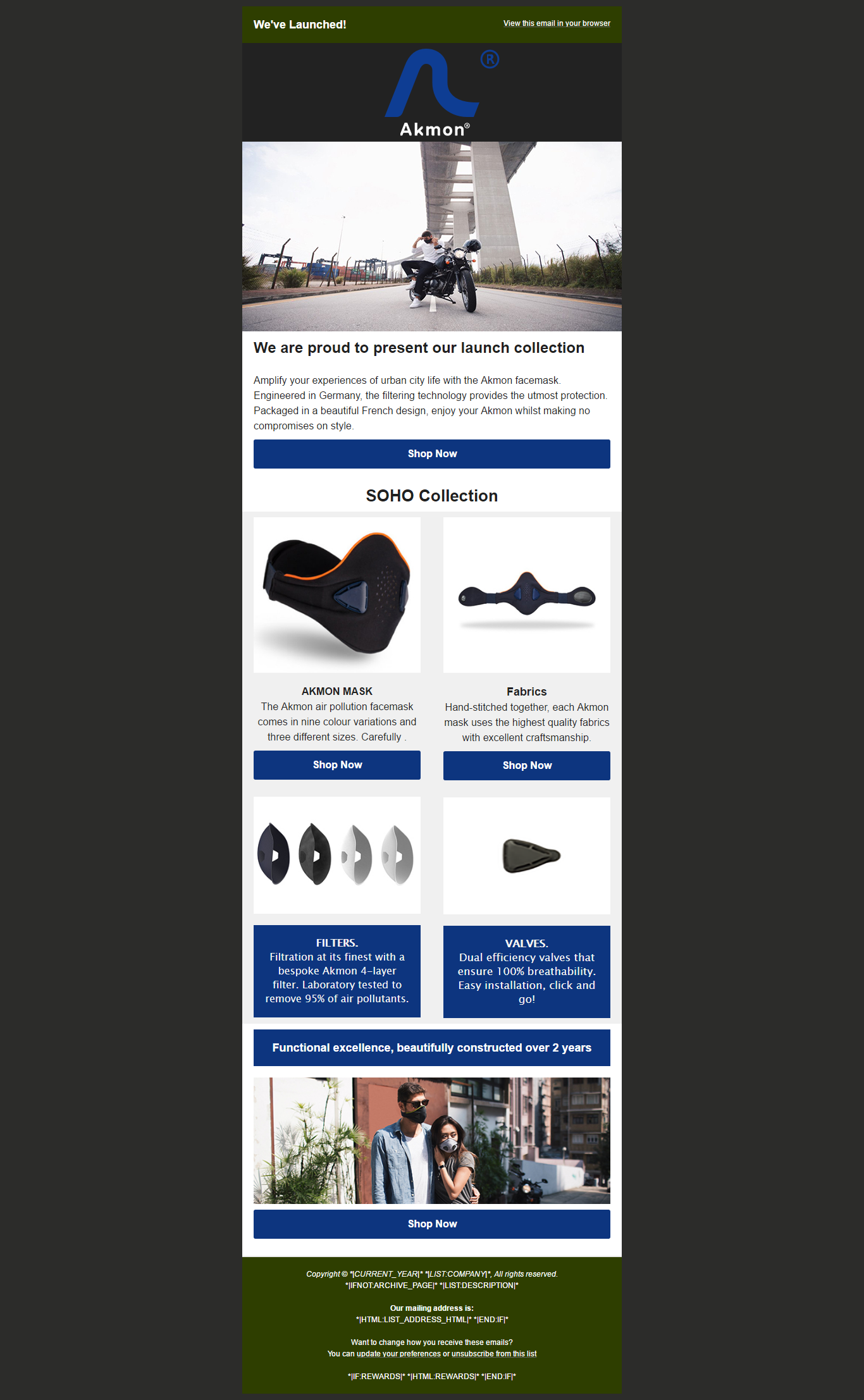 Design Editable Mailchimp Template Mailchimp Email Newsletter