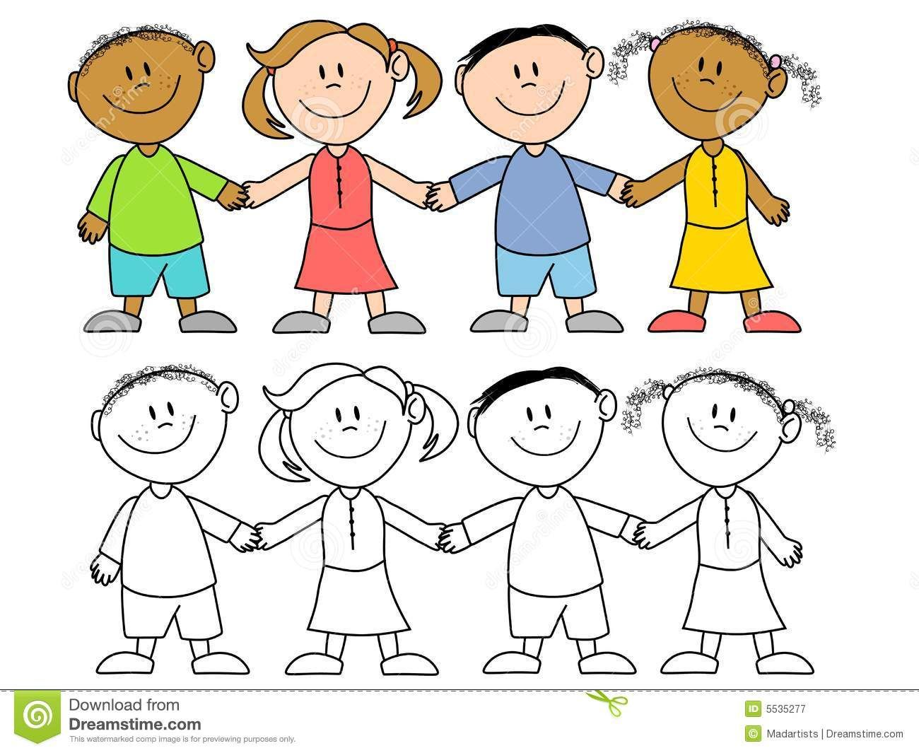 Kids Holding Hands Group An Illustration Featuring Your Choice Of Cartoonish Ch Sponsored Sponsored Children Holding Hands Freedom Drawing Hand Art Kids