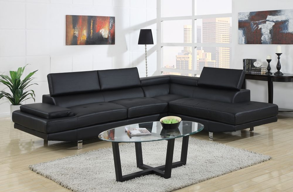 Baxton Studio Selma Black Leather Modern Sectional Sofa | Affordable Modern  Furniture In Chicago