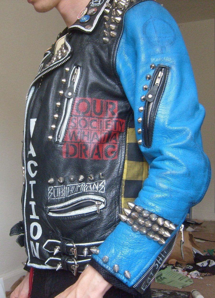 Leather jacket punk - Punk Studded Leather Jackets