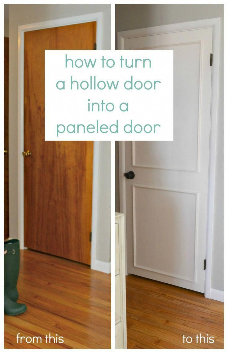 Diy Turn Old Hollow Doors Into White Paneled Doors Quick