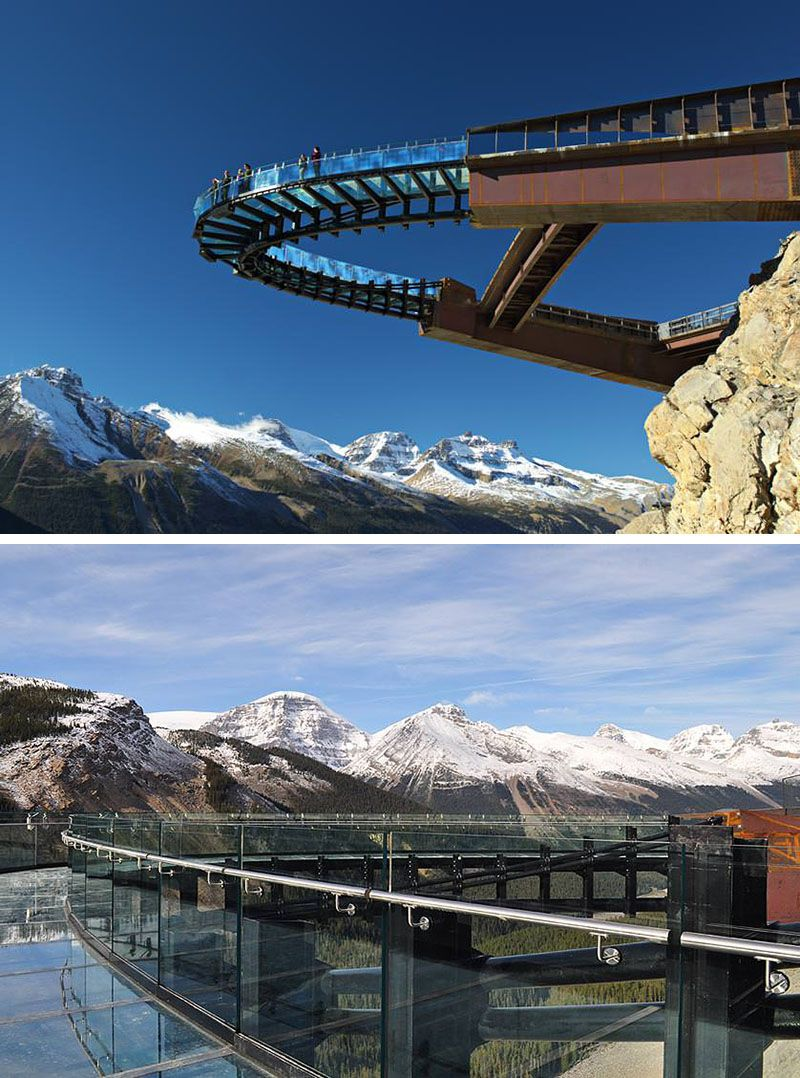 17 Tourist Activities That Would Be A Nightmare For People With A Fear Of Heights //  Glacier Skywalk – Jasper, Alberta