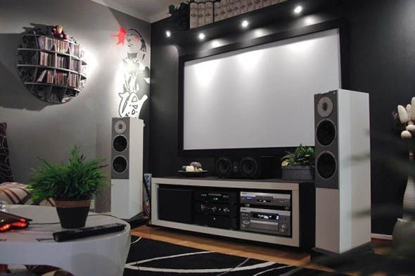 Small home theater room interior design ideas home inspiration pinterest room interior Home theater interior design ideas