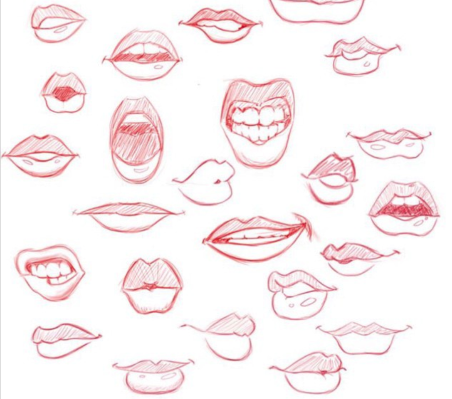 Lip References Lips drawing, Lips sketch, Drawing tutorial