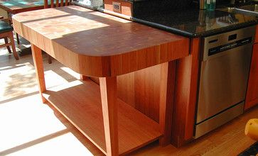 Cherry Butcherblock Countertop By Grothouse Traditional Kitchen Countertops Los Angeles The Lumber Company