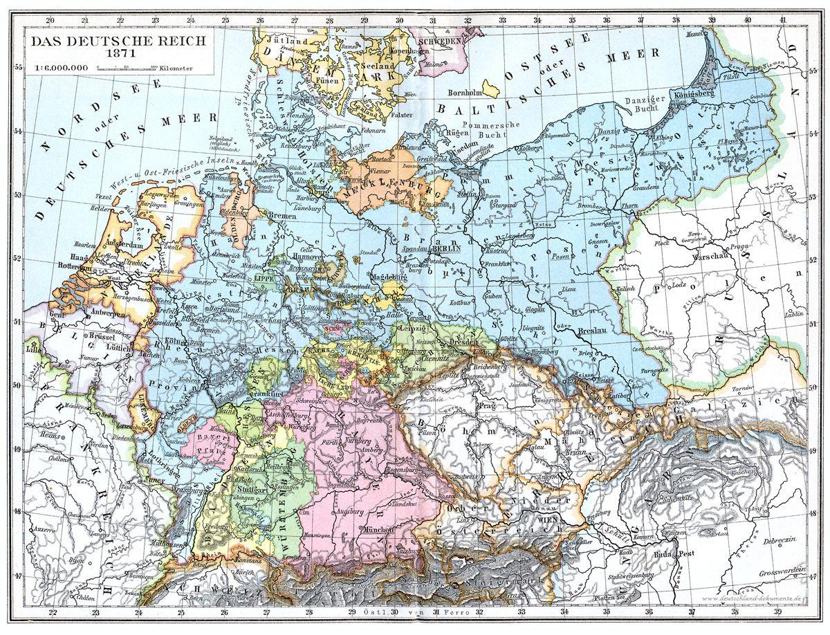 Das Deutsche Reich In Seinem Grundungsjahr 1871 The German