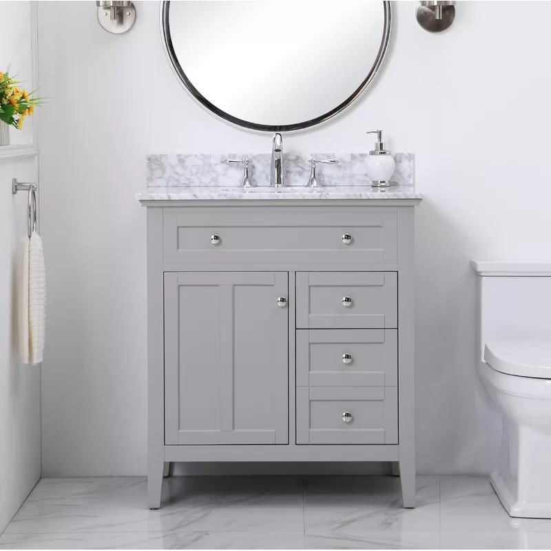 Charlton Home Benoit Sayville 32 Single Bathroom Vanity Set Reviews Wayfair Single Bathroom Vanity Bathroom Vanity Vanity Set