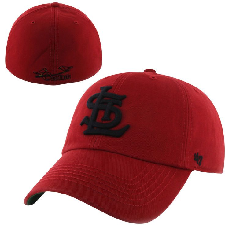 4bfd9bef4 St. Louis Cardinals  47 Brand Cooperstown Franchise II Fitted Hat – Red -   22.99