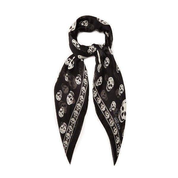 Rose and skull-print semi-sheer scarf Alexander McQueen bIFwOx