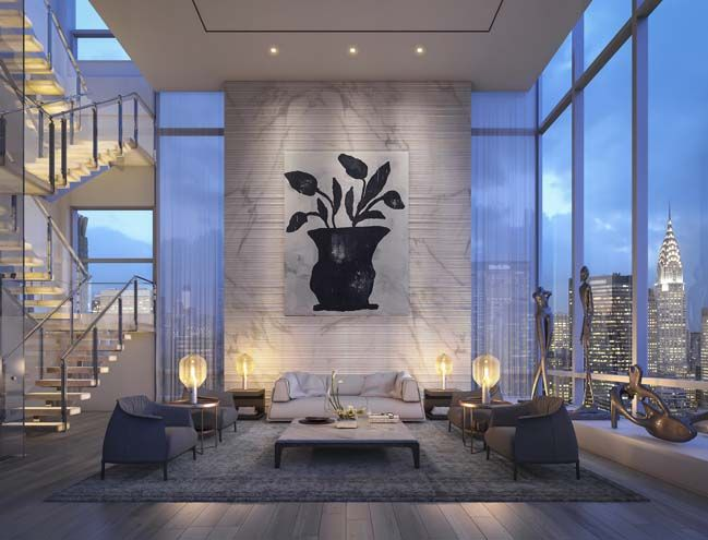 Luxury Penthouse In New York By Oda Architecture Apartment Interior Design Apartment Design Luxury Apartments