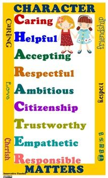 Character Matters Poster   Service projects, School and Character ...