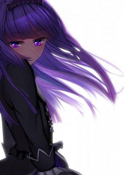 with hair purple girl Anime
