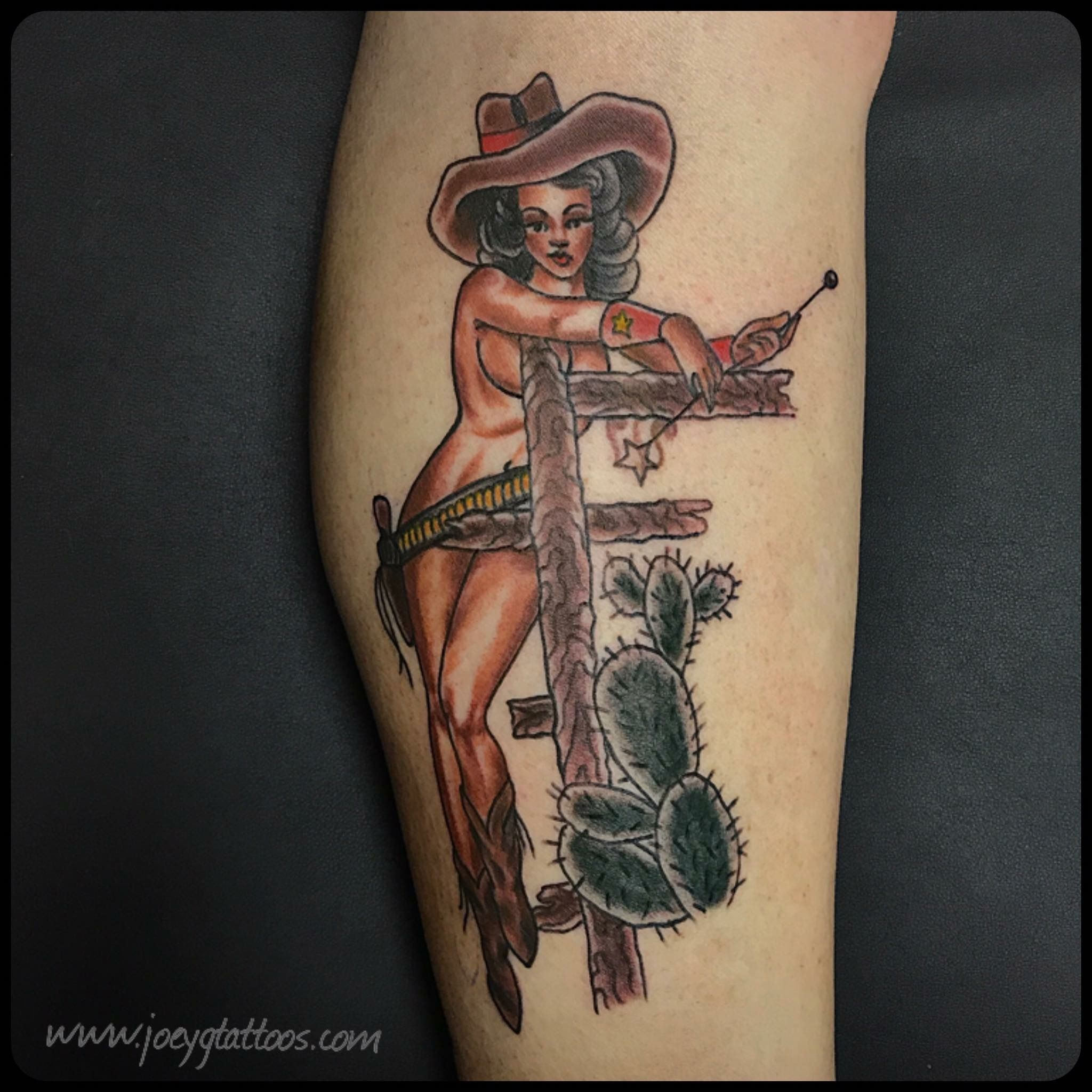 Traditional Cowgirl Tattoo Traditional Pinup Tattoo Cowgirl Tattoos Tattoos Tattoo Images