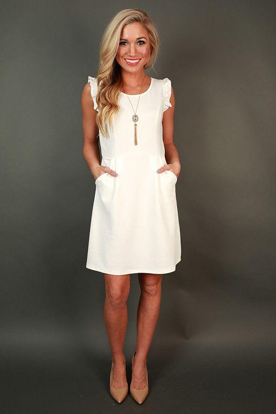 Parisian Romance Ruffle Dress in White | The o'jays, Romances and ...
