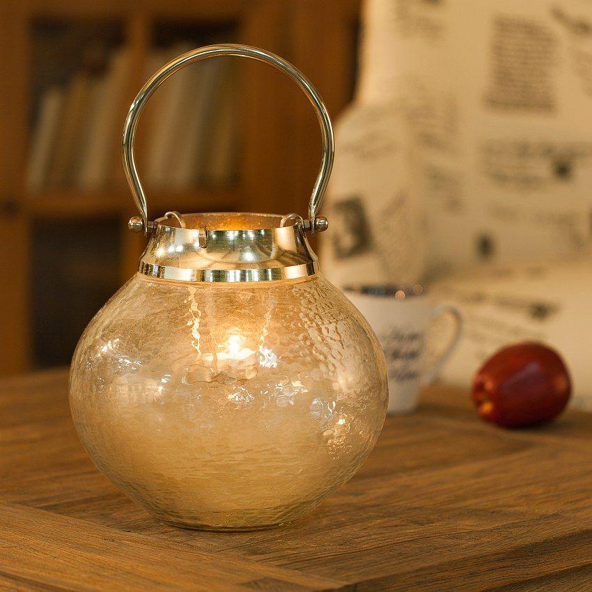 Lampion Helle na tealighta 24x24cm, 24x24cm - Dekoria