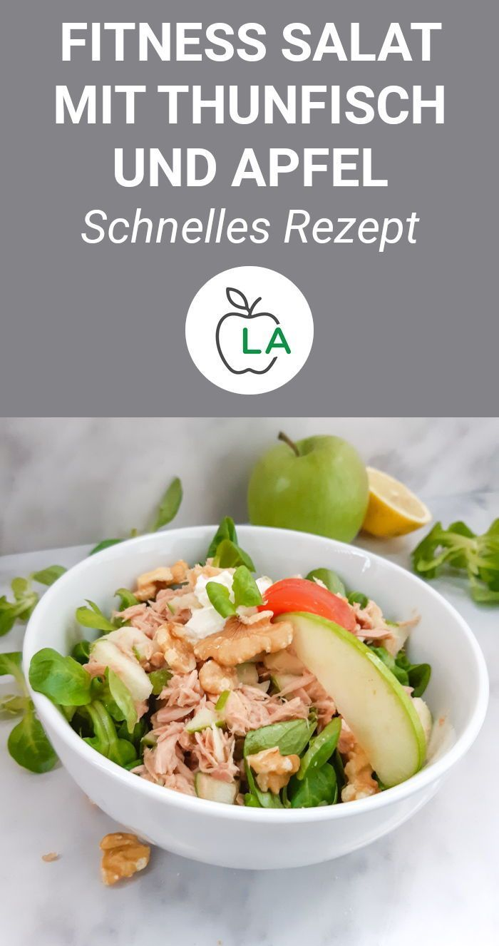 Tuna apple salad with walnuts (low carb) -  This healthy tuna salad is a delicious low carb lunch or...