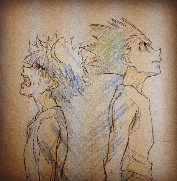Hunter X Hunter Drawings By Niuya An Animator Of Hunter X Hunter Hunter X Hunter Hunter Anime Hunter Tattoo