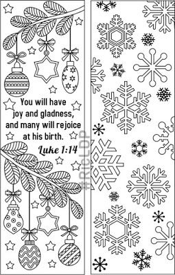 Christmas Coloring Bookmarks Coloring Bookmarks Christmas Bookmarks Christmas Colors