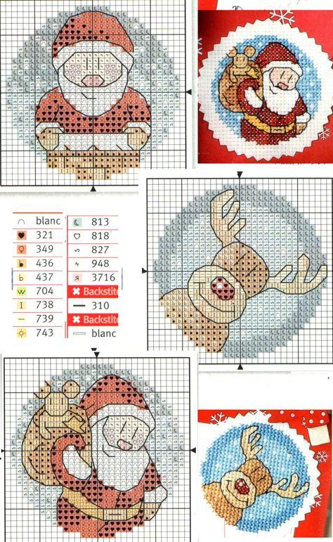 Photo of 42 Ideas For Embroidery Patterns Christmas Ornaments Cross Stitch