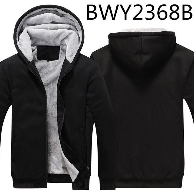 XQS Womens Zipper Winter Fleece Lined Hoodie Thick Outerwear Jackets