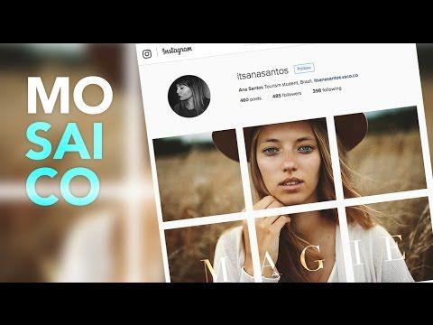 Como Fazer Um Mosaico Para Foto No Feed Do Instagram Photoshop