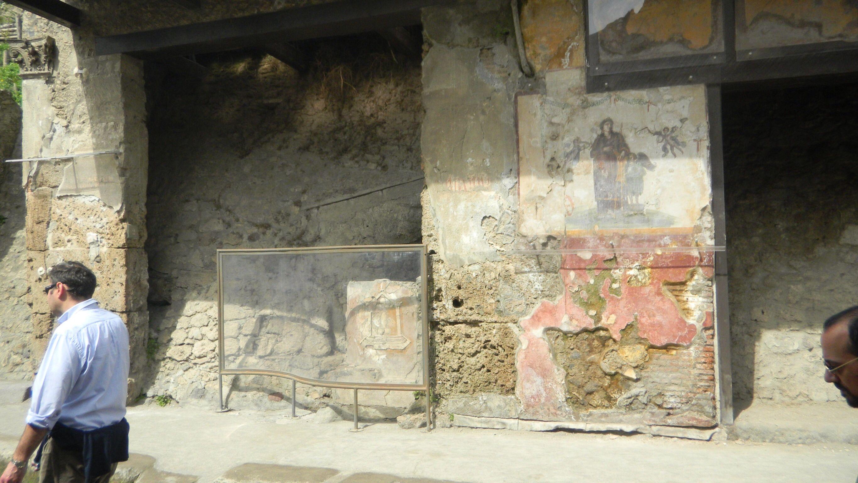 Actual brothel - Lupanar in Pompeii