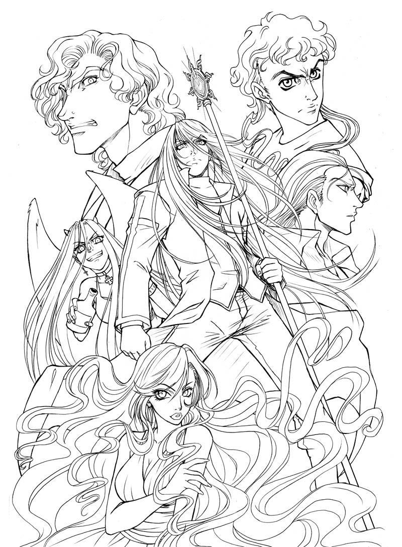 Original Dark Hunter Manga Drawing Dark Hunter Sherrilyn Kenyon