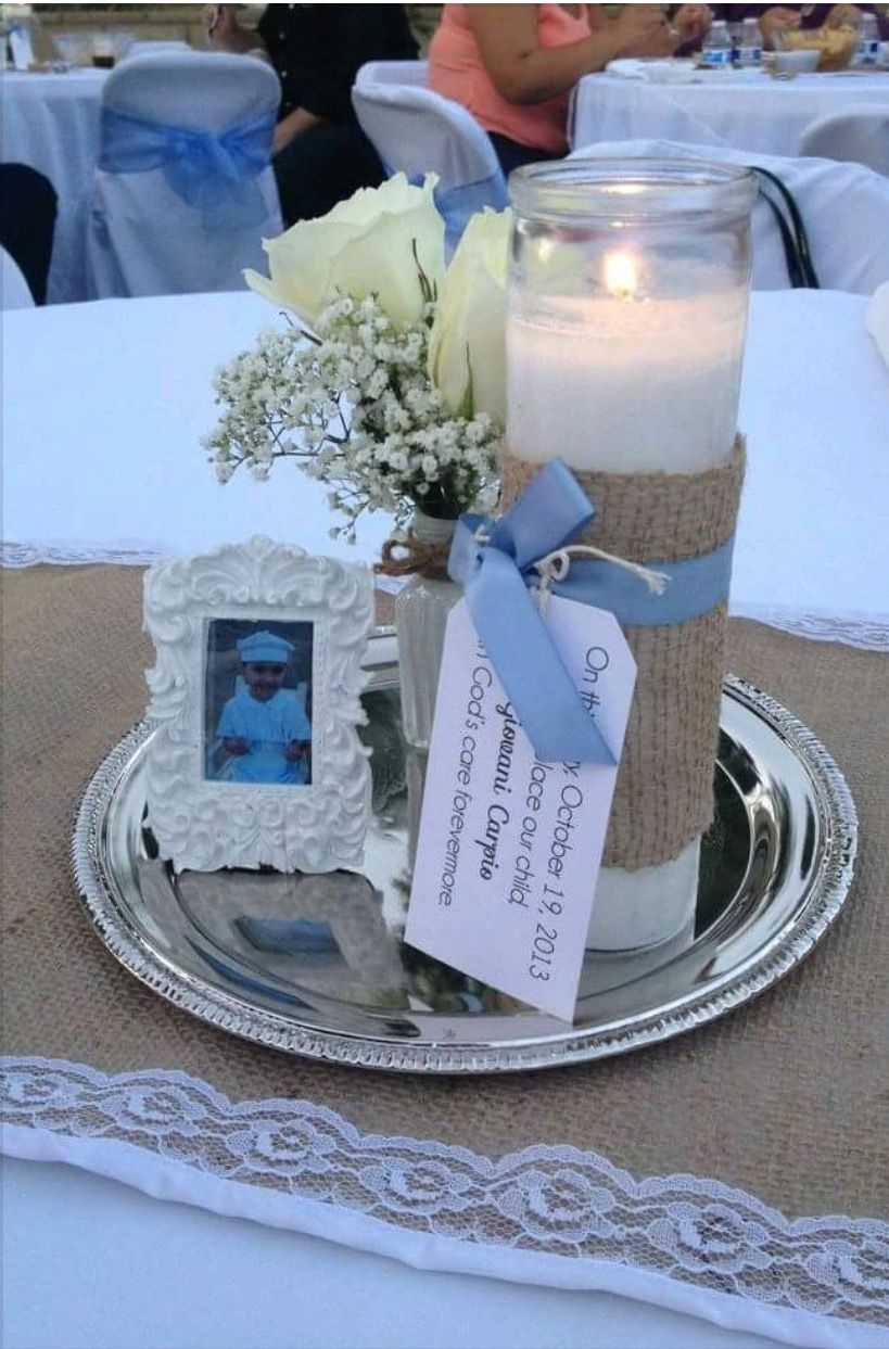 Baptism Table Center Piece Not Too Fancy Not Too Simple Great