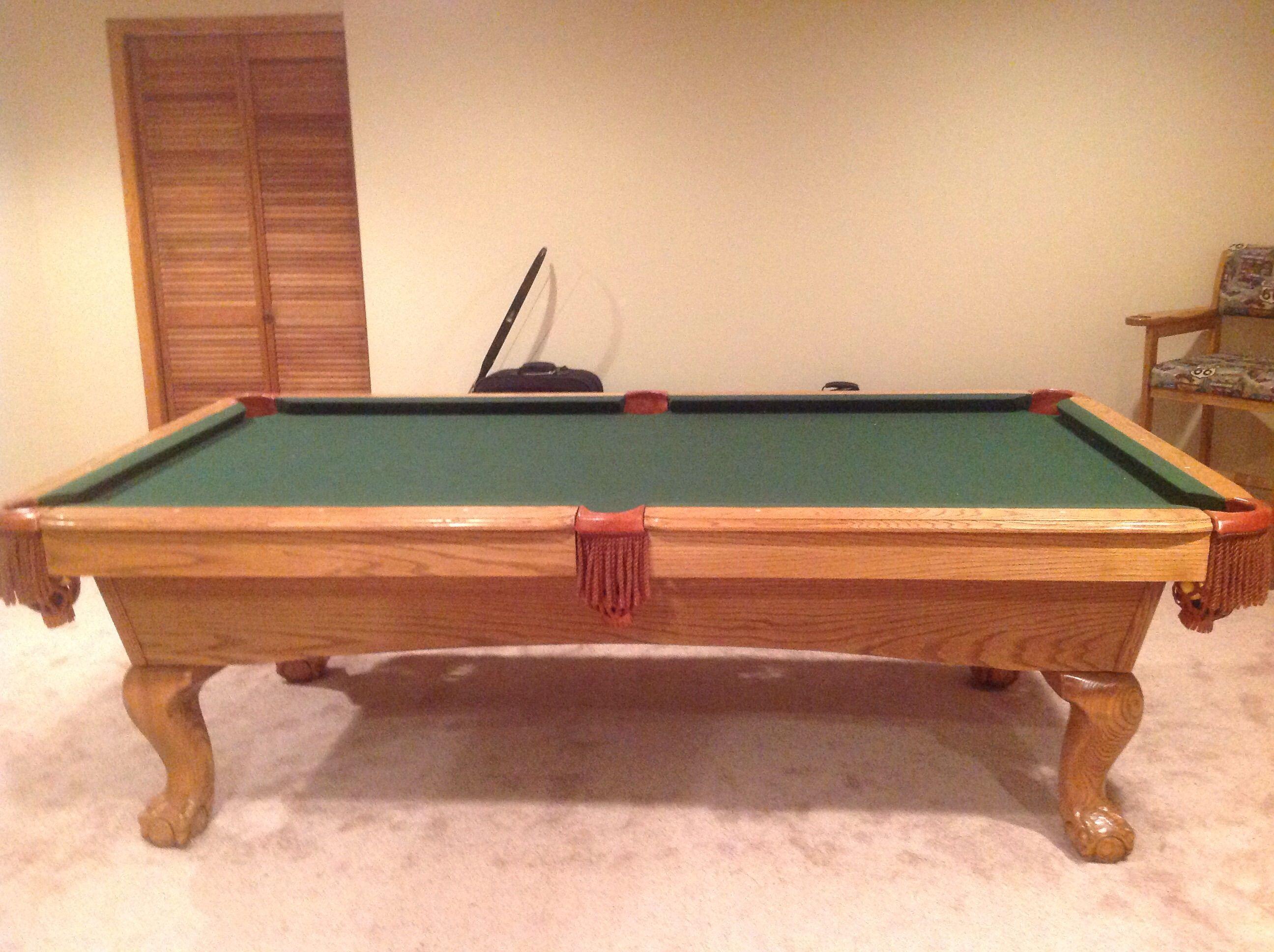 American heritage 7 billiard pool table used pool