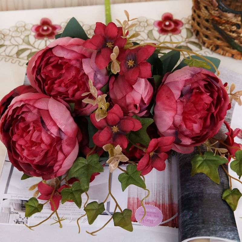 7 heads artificial peony silk flowers european autumn fake peony flower mightylinksfo Gallery