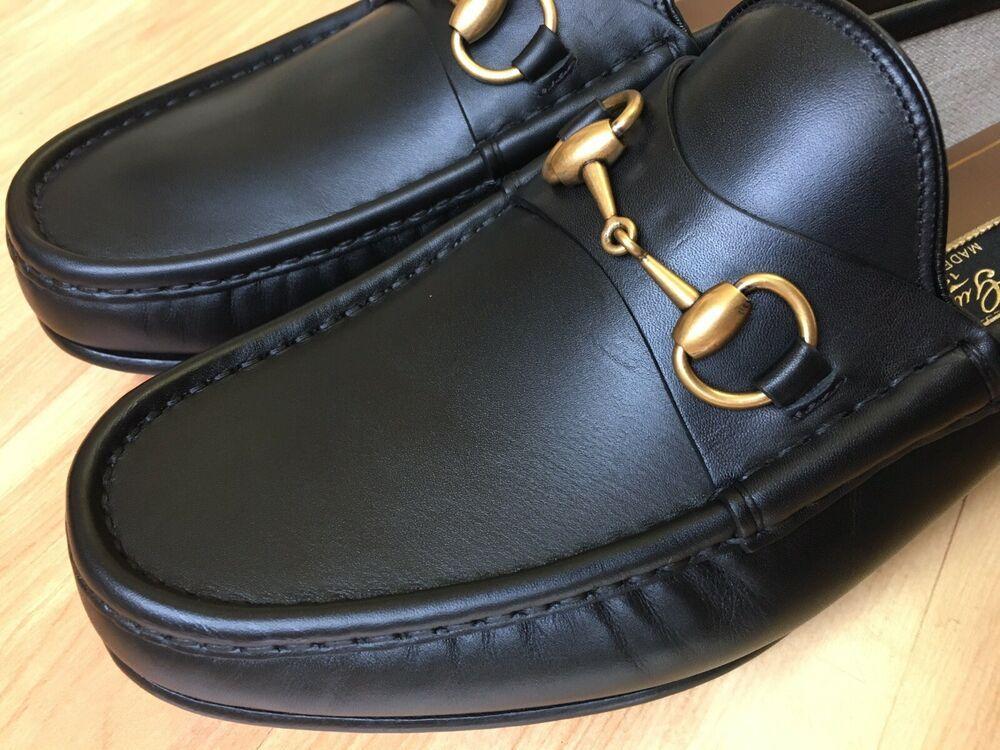 b527cc0c9f0 eBay  Sponsored GUCCI 1953 Roos Black Leather Horsebit Loafer 307929 Sz 9  UK (10
