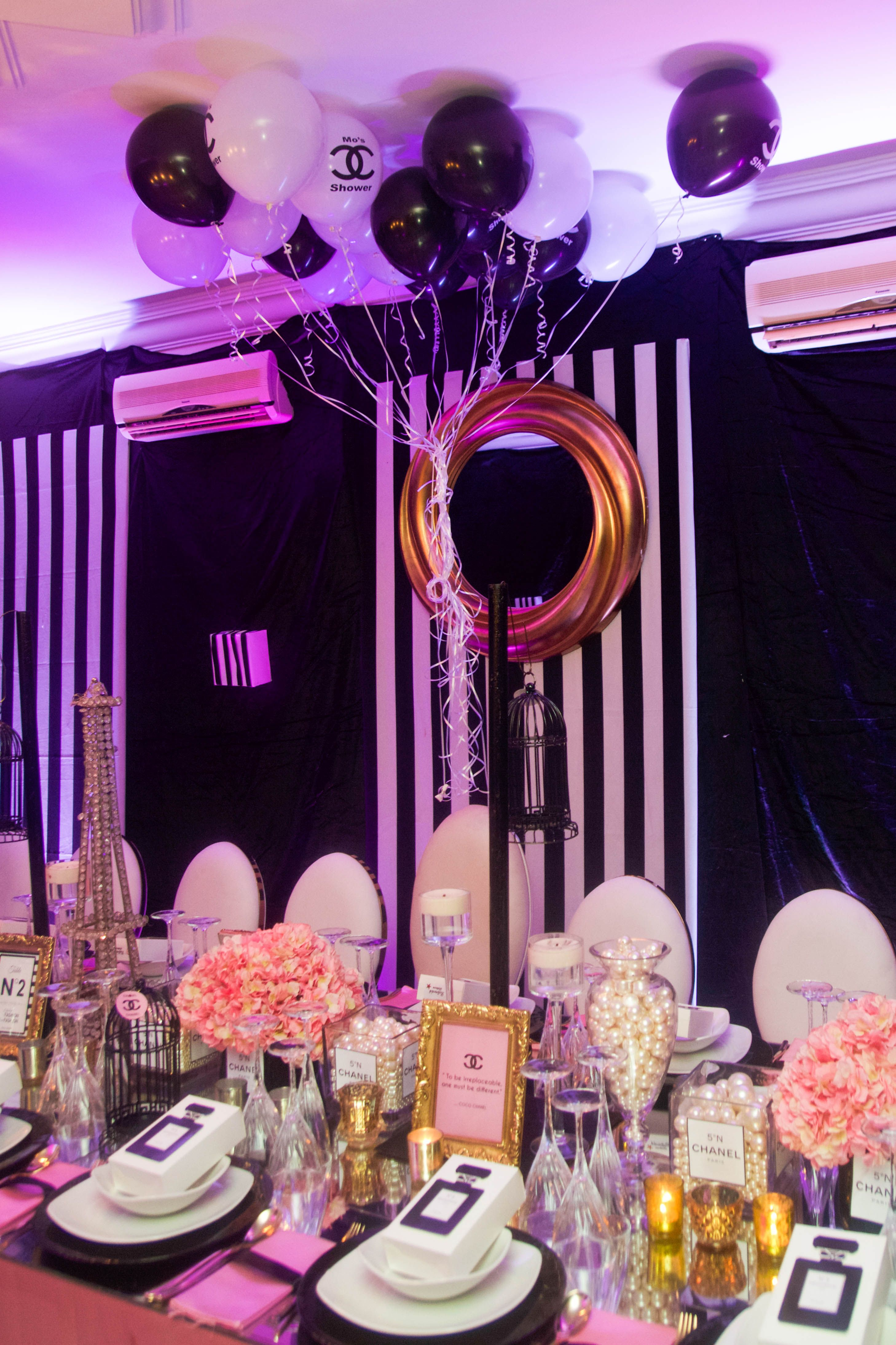 My Gorgeous Chanel Themed Bridal Shower In Lagos Nigeria Bridal Shower Bridal Shower Decorations Bridal Shower Theme